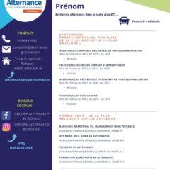 CV poste alternance Groupe Alternance Bordeaux Gironde